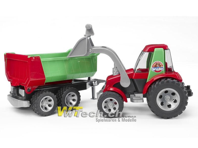e4bf960e4fe2d1 20116 Traktor mit Frontlader und Kippanhänger Roadmax, Bruder Spielzeug auf  WTech.ch, Onlineshop für Spielzeuge und Modelle