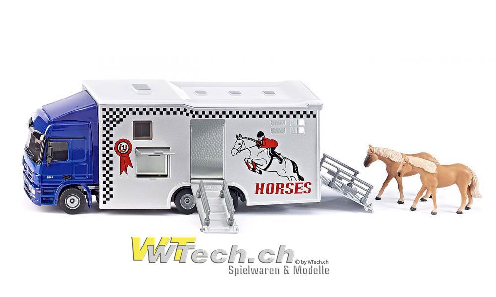 siku shop siku 1942 mercedes actros pferdetransporter mit. Black Bedroom Furniture Sets. Home Design Ideas