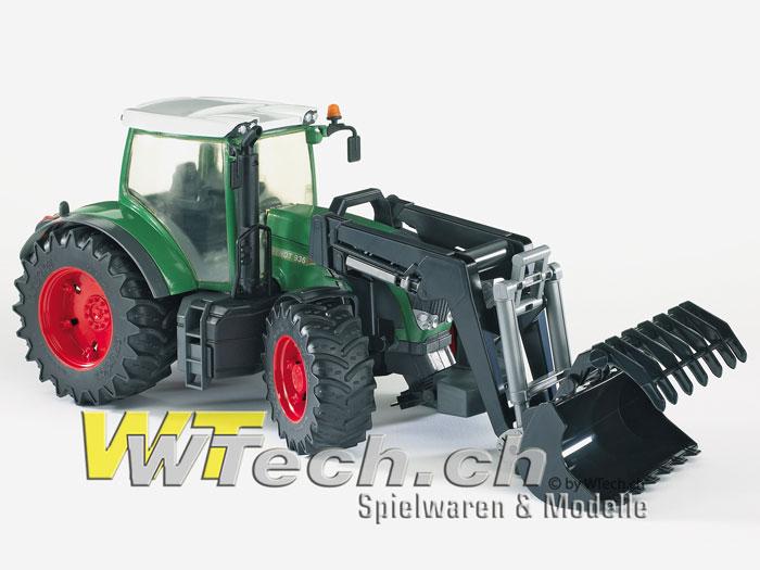 f7a109e5f62f4a 03041 Fendt 936 Vario m. Frontlader Profi-Serie 44.5x17.5x20cm, Bruder