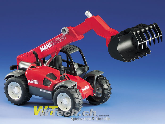 Berühmt Bruder Spielzeug, 02125 Manitou Teleskoplader MLT 633 Profi-Serie &FA_45